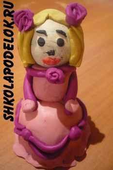 """Поделка из пластилина для детей """"Принцесса"""""""