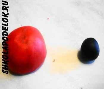 Два шарика из пластики