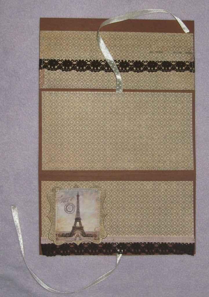Мужской конверт для денег в технике скрапбукинг от Риммы Небесной