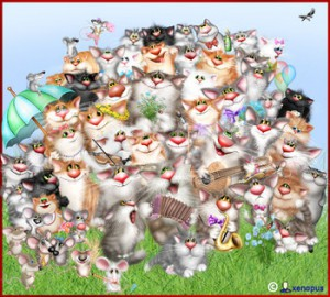 Загадка про кошек