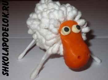 Как сделать овечку своими руками. Овца - символ 2015 года