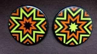 Магниты из полимерной глины с геометрическим рисунком