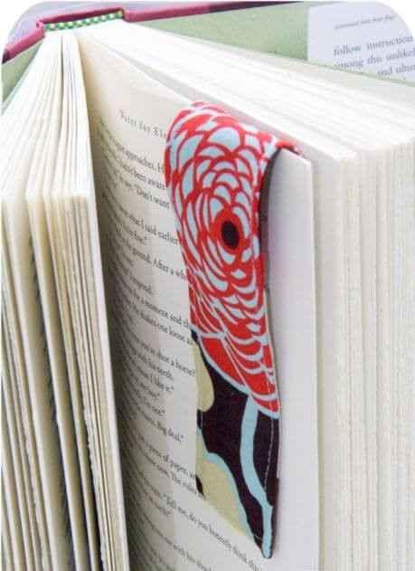 Магнитная закладка для книги из ткани