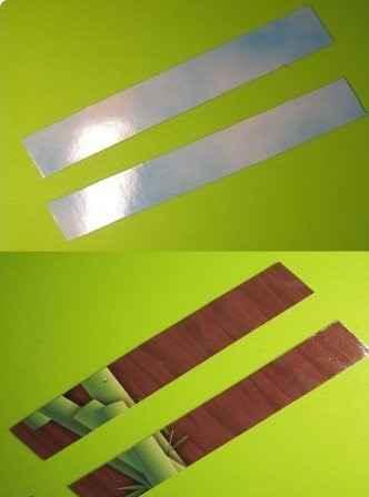 Нарезаем картон полосками (мастер-класс создания магнитной закладки)