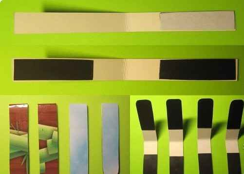 Склеиваем картонки с магнитом скотчем (мастер-класс создания магнитной закладки)